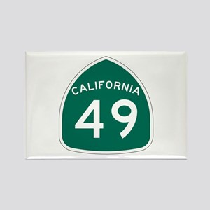 Route 49, California Rectangle Magnet