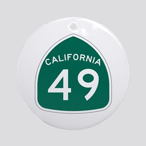 Route 49, California Ornament (Round)