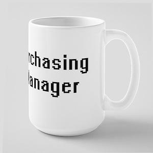 Purchasing Manager Retro Digital Job Design Mugs