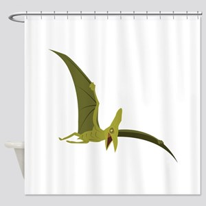 Flying Pterodactyl Shower Curtain