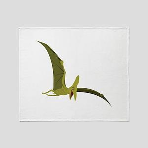 Flying Pterodactyl Throw Blanket