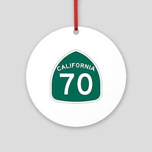 Route 70, California Ornament (Round)