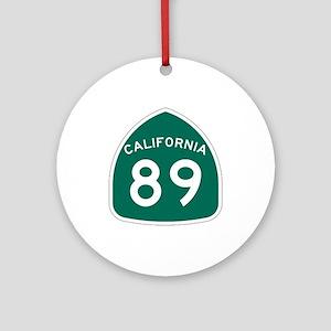 Route 89, California Ornament (Round)