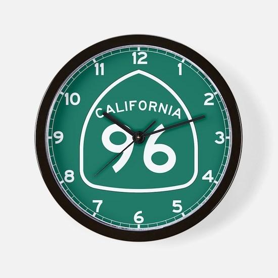 Route 96, California Wall Clock