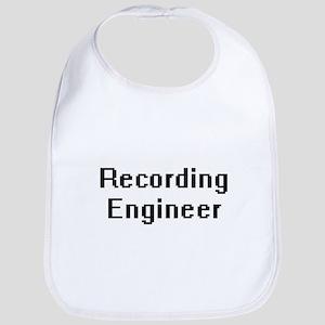 Recording Engineer Retro Digital Job Design Bib
