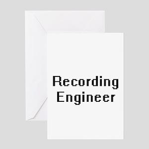 Recording Engineer Retro Digital Jo Greeting Cards