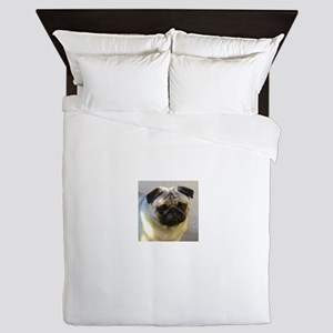 Pug headstudy Queen Duvet