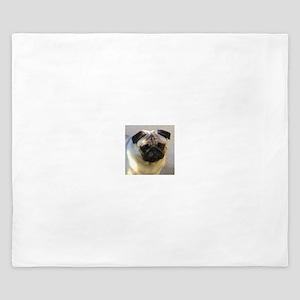 Pug headstudy King Duvet