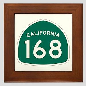 Route 168, California Framed Tile