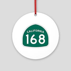 Route 168, California Ornament (Round)