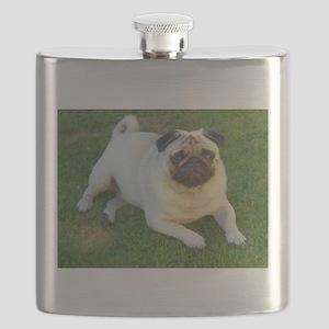 Pug lying down Flask