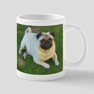 Pug lying down Mugs