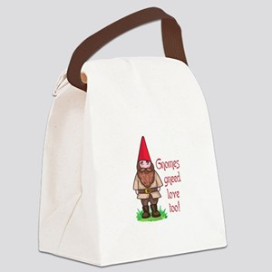 GNOMES GNEED LOVE TOO Canvas Lunch Bag