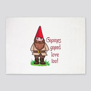 GNOMES GNEED LOVE TOO 5'x7'Area Rug