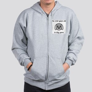 20 dog years 2 Zip Hoodie