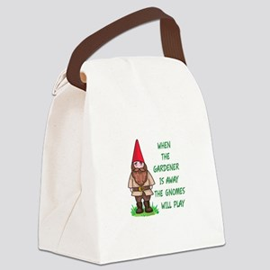 THE GNOMES WILL PLAY Canvas Lunch Bag