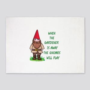 THE GNOMES WILL PLAY 5'x7'Area Rug
