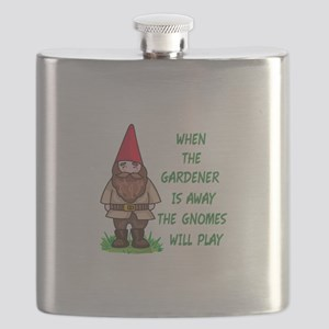 THE GNOMES WILL PLAY Flask