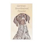 German Shorthaired Pointer Sticker (Rectangle)