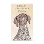 German Shorthaired Point Sticker (Rectangle 10 pk)