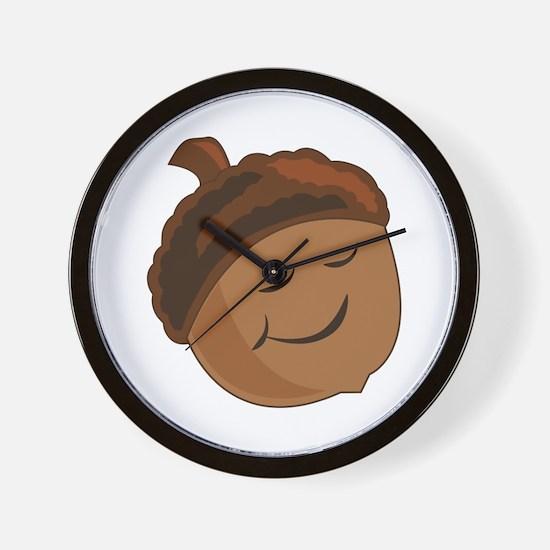 Smiling Acorn Wall Clock
