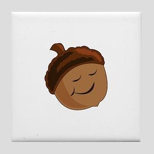 Smiling Acorn Tile Coaster