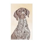 German Shorthaired Point Sticker (Rectangle 50 pk)