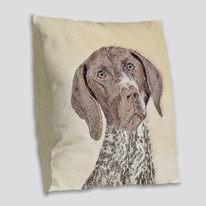 German Shorthaired Pointer Burlap Throw Pillow