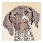 German Shorthaired Point Square Car Magnet 3