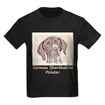 German Shorthaired Pointer Kids Dark T-Shirt