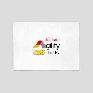 LIVE LOVE AGILITY TRIALS 5'x7'Area Rug