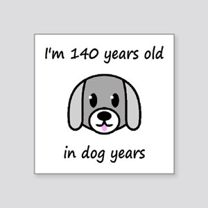 20 dog years 2 - 2 Sticker