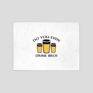 Do You Even Drink Bro? 5'x7'Area Rug