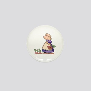GIRL IN CARROT PATCH Mini Button