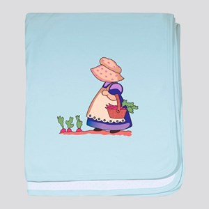 GIRL IN CARROT PATCH baby blanket