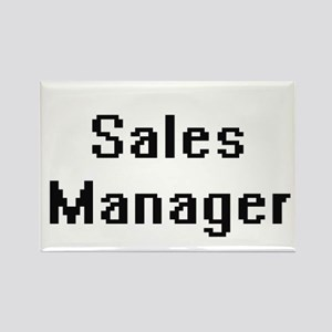 Sales Manager Retro Digital Job Design Magnets