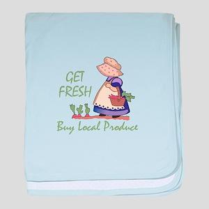 GET FRESH BUY LOCAL baby blanket