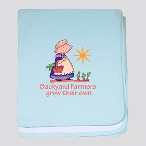 BACKYARD FARMERS baby blanket