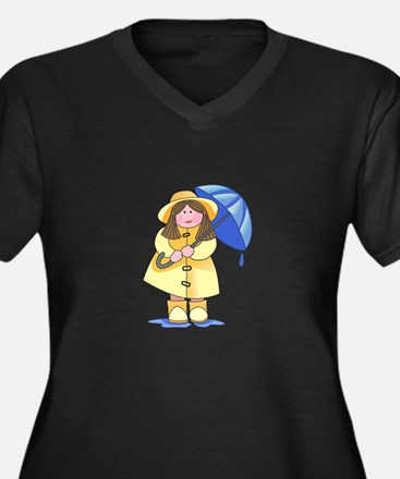 GIRL WITH UMBRELLA Plus Size T-Shirt