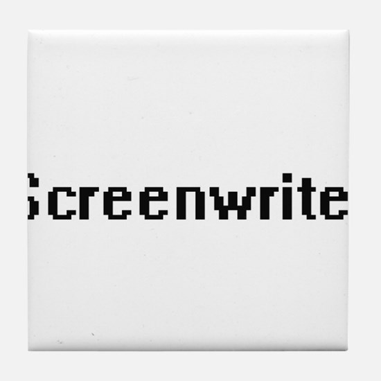Screenwriter Retro Digital Job Design Tile Coaster