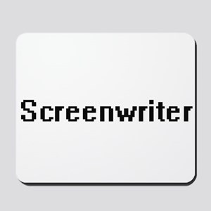 Screenwriter Retro Digital Job Design Mousepad