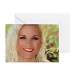 US Blonde American Beaut Greeting Cards (Pk of 10)