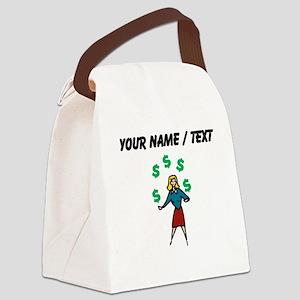 Juggling Money (Custom) Canvas Lunch Bag