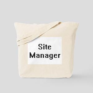 Site Manager Retro Digital Job Design Tote Bag