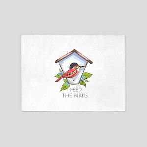FEED THE BIRDS 5'x7'Area Rug