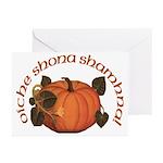 Gaelic Harvest Pumpkin Halloween Cards (Pk of 10)
