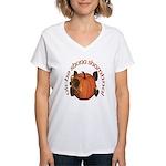 Gaelic Harvest Pumpkin Women's V-Neck T-Shirt