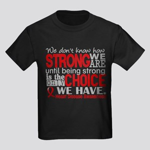 Heart Disease How Strong We Are Kids Dark T-Shirt