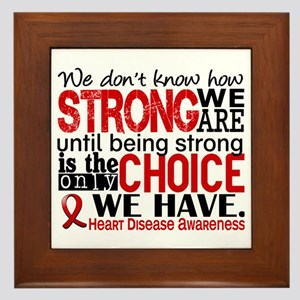 Heart Disease How Strong We Are Framed Tile