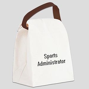 Sports Administrator Retro Digita Canvas Lunch Bag